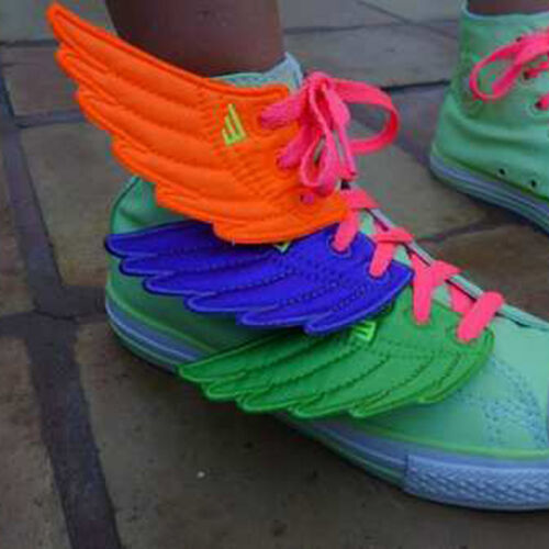 Lime Neon Shwings Wings 4 Shoes Make Old shoes New Again or Make New Shoes Fly