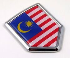 Malaysia Flag Car Chrome Emblem Malaysian Crest Decal 3D Sticker