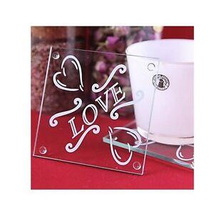 Set 2 Sottobicchieri Love Idea Regalo San Valentino Festa Mamma