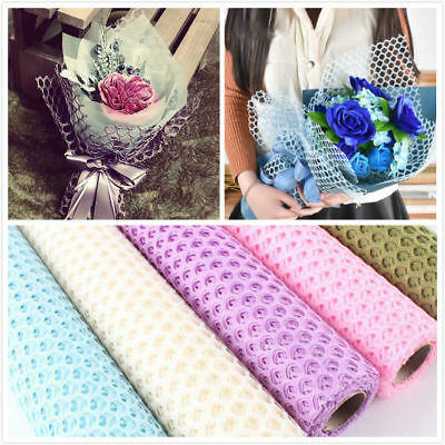 1PC Flower Packaging Round Network Paper Gift Bouquet Wrapping Paper Colorful