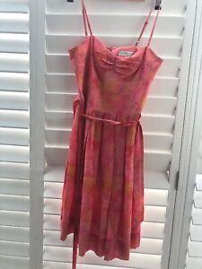 5ef61ef2555 Trina Turk Pink Silk Sundress US Size 8 ( Uk Size 10-12)