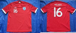 quality design ad145 5edc7 Details about James Milner #16 ENGLAND South Africa 2010 away shirt jersey  UMBRO /adult SIZE L