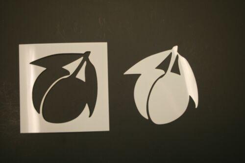 Peach 2 Reusable Mylar Stencil Art Supplies