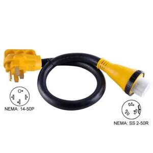 Superior Electric RVA1532 25 ft 50 Amp RV 6AWG Cord With Connector Plug & Handle