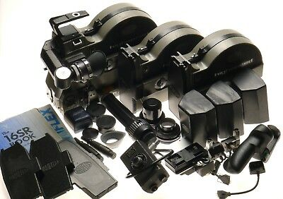 Arriflex 16 SRII Super PL Camera Magazines Batteries Viewfinder Ext Caps Grip