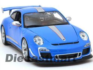 Porsche-911-GT3-RS-4-0-Azul-1-18-automovil-de-fundicion-al-Bburago-Modelo-11036