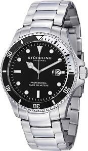 Stuhrling-Regatta-Elite-Men-039-s-42mm-Quartz-Date-Divers-Watch-326B-331113