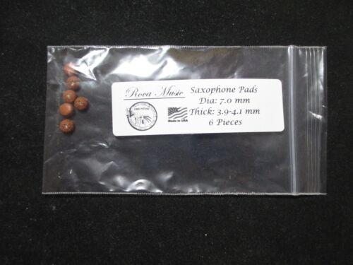 6 pcs Saxophone Pads 7.0 mm