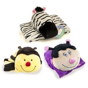 "Pillow Pets Blanket Kids Children Throw Cushion 36"" x 48"" Super Soft Snuggle Up"
