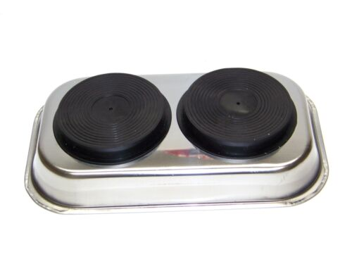 """9-1//2/"""" x 5-1//2/"""" Stainless Steel  Magnetic Tray Chrome Finish Parts /& tools Saver"""