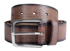 Herren Premium Qualität Perforiert Schwanz Weich Leder Pin Schnalle Gürtel S-3xl Seien Sie Freundlich Im Gebrauch