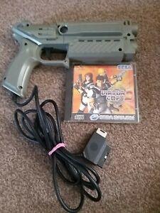 VIRTUA COP 2 SEGA SATURN GAME & preadator gun