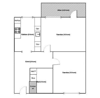 2800 2 vær. andelslejlighed, 64 m2, Christian X's Alle 44 1