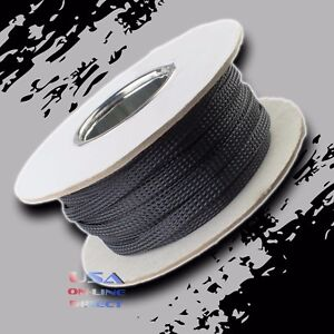"""5//16/"""" 100 ft Expandable Braided conduit Wire Cable Weave Sleeve hose cover tube"""
