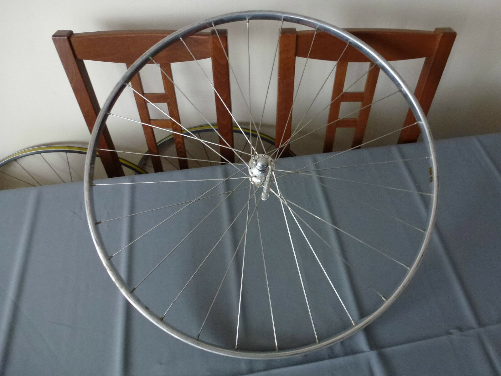 Vintage Campagnolo Nuovo Record front hub & Scheeren  rim , wheel , pista  shop clearance