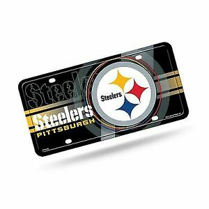 Single NEW Football Team Pittsburgh Steelers Metal Chrome License Plate Frame