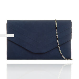 0209f4434 La imagen se está cargando Nuevo-ante-Azul-Marino-Boda-Mujer-Fiesta -Graduacion-