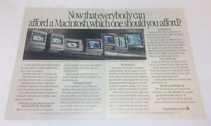 1990-two-page-APPLE-MACINTOSH-IIsi-computer-ad-Now-That-Everybody