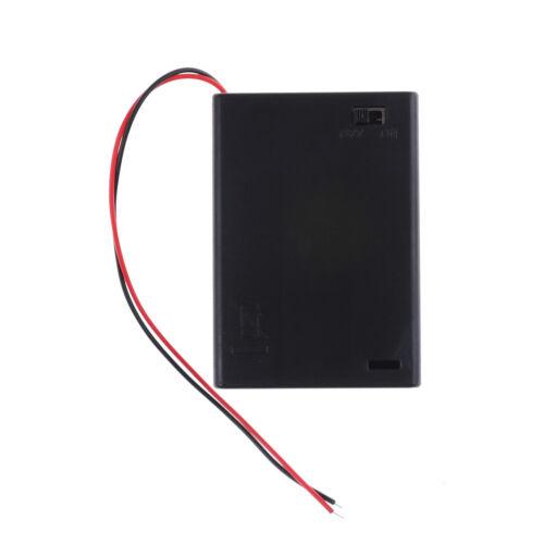 4,5 V 3 AA Batterie Halter Fall Zelle mit EIN AUS Kippschalter Box Pack CZJYB