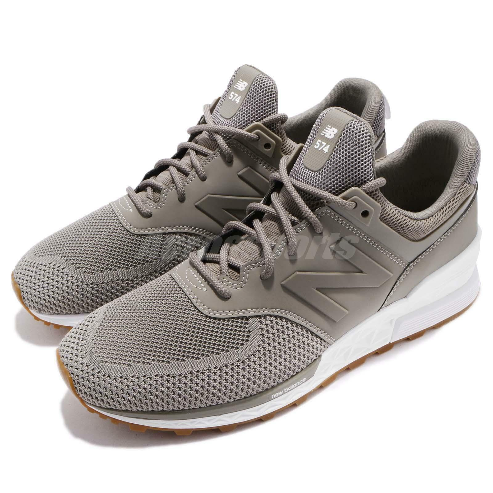 New Balance MS574EMG D 574 Gris Tan blanc  Hommes Running Chaussures Baskets MS574EMGD