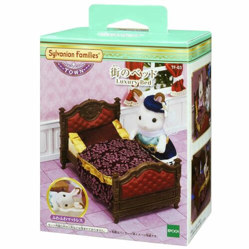 Japan Doll not included Sylvanian Families LUXURY BED TF-03 Town Series