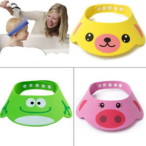 Cute-Baby-Kids-Cartoon-Shampoo-Bath-Bathing-Shower-Cap-Hat-Wash-Hair-Shield-Soft