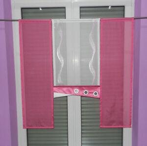 Details Zu Gardinen Set Madchen Kinderzimmer Pink Weiss Gardinen Set Nr 112