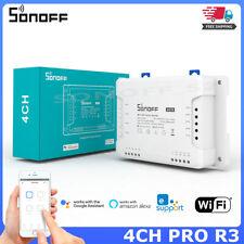 Sonoff 4CH PRO R3 Smart Home Wifi Switch 4 Gang 3 Working Mode Inching Interlock