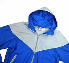 Nike USA 80's vtg Windbreaker Jacket Small Blue Windrunner Nylon Orange Tag