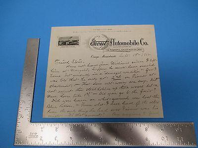 Vintage 1912 Grout Automobile Co. Orange, Mass. Business Letter M382