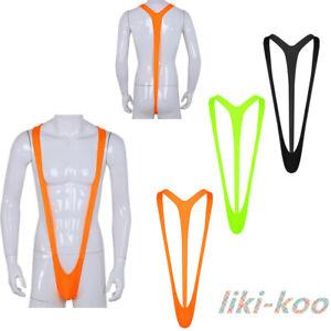 Mens Suspender Sling G-string Mankini Thongs Underwear Beach Swimwear Bodysuits