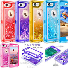 For Apple iPhone 8 Glitter Quicksand Liquid Heavy Duty Defender Case