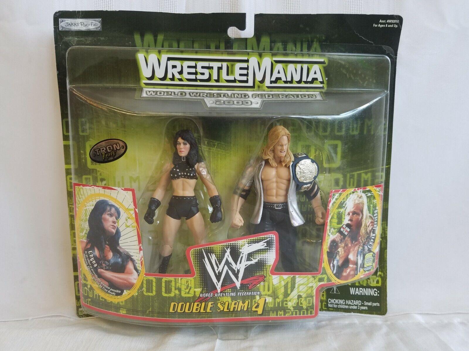 Nuovo Circa 2000 Vintage  Collectible WWF Wrestle uomoia Chyna Chris Jericho  più economico