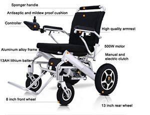 Lightweight-elektrischer-Rollstuhl-Mobilitaet-Stuhl-klappbar-Electric-Power-Rollstuhl