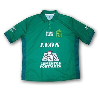 finest selection feb76 7c1e9 Club Leon Men's Green Soccer Jersey With Collard Short Sleeve NWOT | eBay