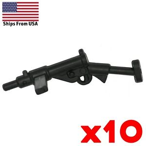 LEGO-Sten-SMG-Submachine-Gun-Lot-of-10-British-WWII-Army-Military-Weapon-Pack