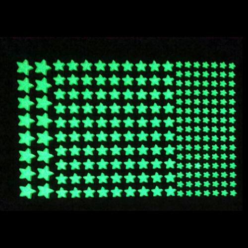 Bedroom Luminous Stars Glow In Dark Wall Sticker DIY Fluorescent Decal