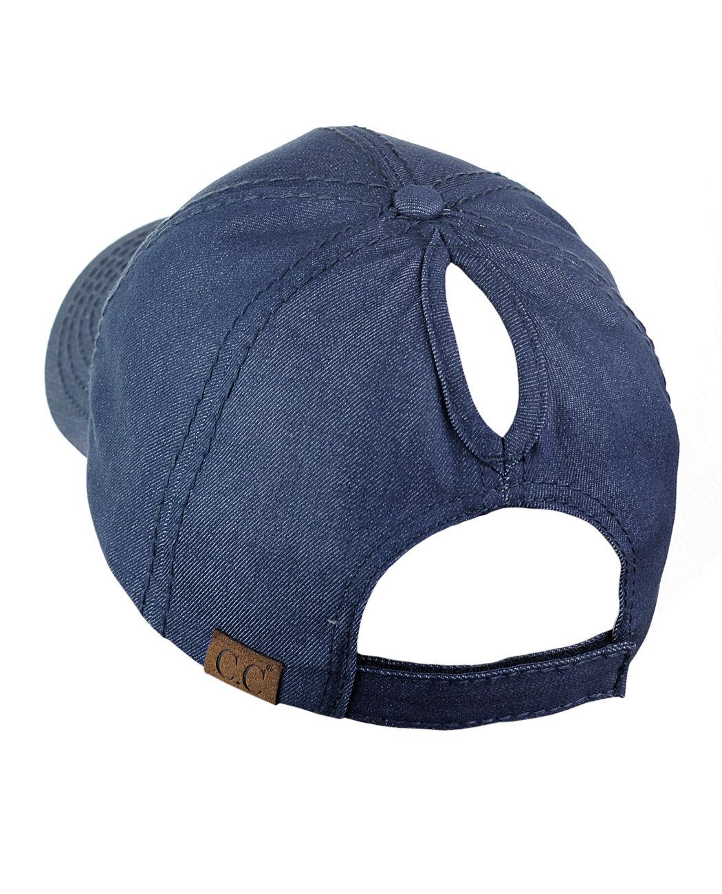 c79e09866d2 C.c Ponycap Messy High Bun Ponytail Adjustable Cotton Baseball Cap Hat Gray