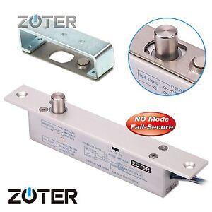 Zoter Electric Deadbolt Drop Bolt Door Lock Timer No Mode