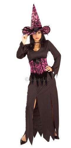 887005 Ladies ELEGANT WITCH Wicked Fancy Dress Halloween Costume Standard Size