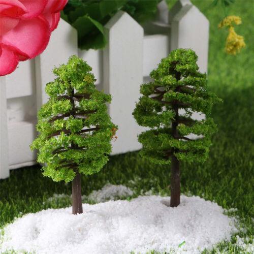 Miniature Christmas Tree Doll House Pots Decor DIY Craft Plastic Mini UK Stock