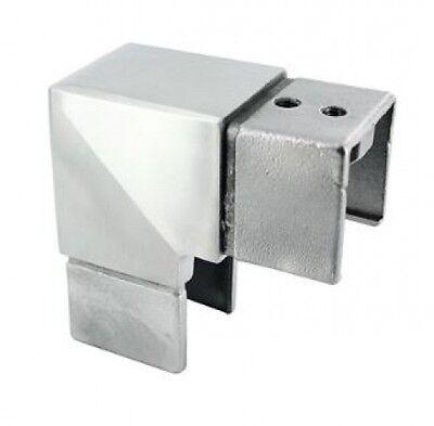 V2a KüHn Eckverbinder Vertikal Für Glasleistenrohr 40 X 40 X 1,5mm Business & Industrie Treppen & Geländer