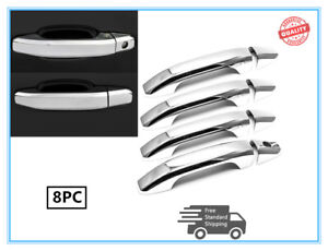 Door Handle Cover Compatible with 2014-2018 Chevy Silverado GMC Sierra 1500 2500 3500 4 Dr Without Passenger Side Keyhole Chrome