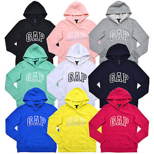 3844a3297c6e20 Image is loading Gap-Womens-Hoodie-Pullover-Sweatshirt-Arch-Logo-Xs-