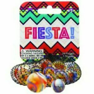 Mega Marbles Moon Glow Marble Net 1 Shooter /& 24 Player Marbles