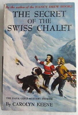 Dana Girls #20 Secret of the Swiss Chalet Nancy Drew Author Carolyn Keene DJ