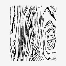 WOODGRAIN STENCIL WOOD PATTERN TEMPLATE CRAFT PATTERN PAINT ART NEW BY TCW