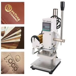 Bronzing Press Hot Foil Stamping Machine Leather PVC PU Card Embossing Printing