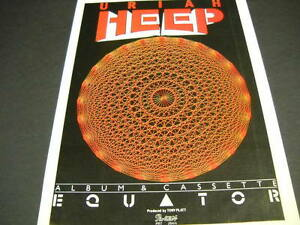 Uriah Heep Equator Is Out Now Vintage U K Mag Full Page Frameable Advert Mint Ebay
