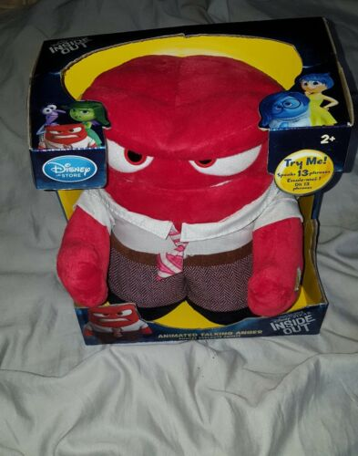 "Disney Inside Out Animated Talking 9"" Anger Plush New in Box!"